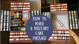 HOW TO MAKE A MILITARY CARE PACKAGE