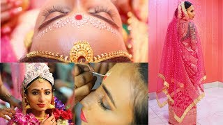 Indian Bridal Bengali Makeover! Makeup, Hair and Outift for my Wedding