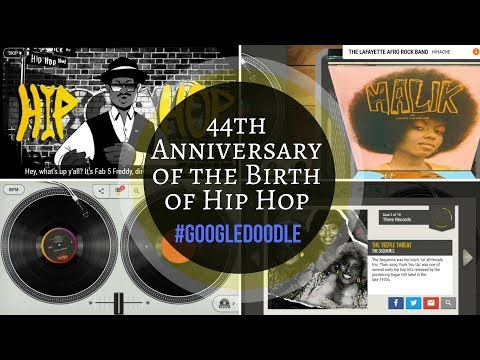 Hip-Hop 44th Anniversary Custom Mix using Google Doodle | Narrated by Fab 5 Freddy