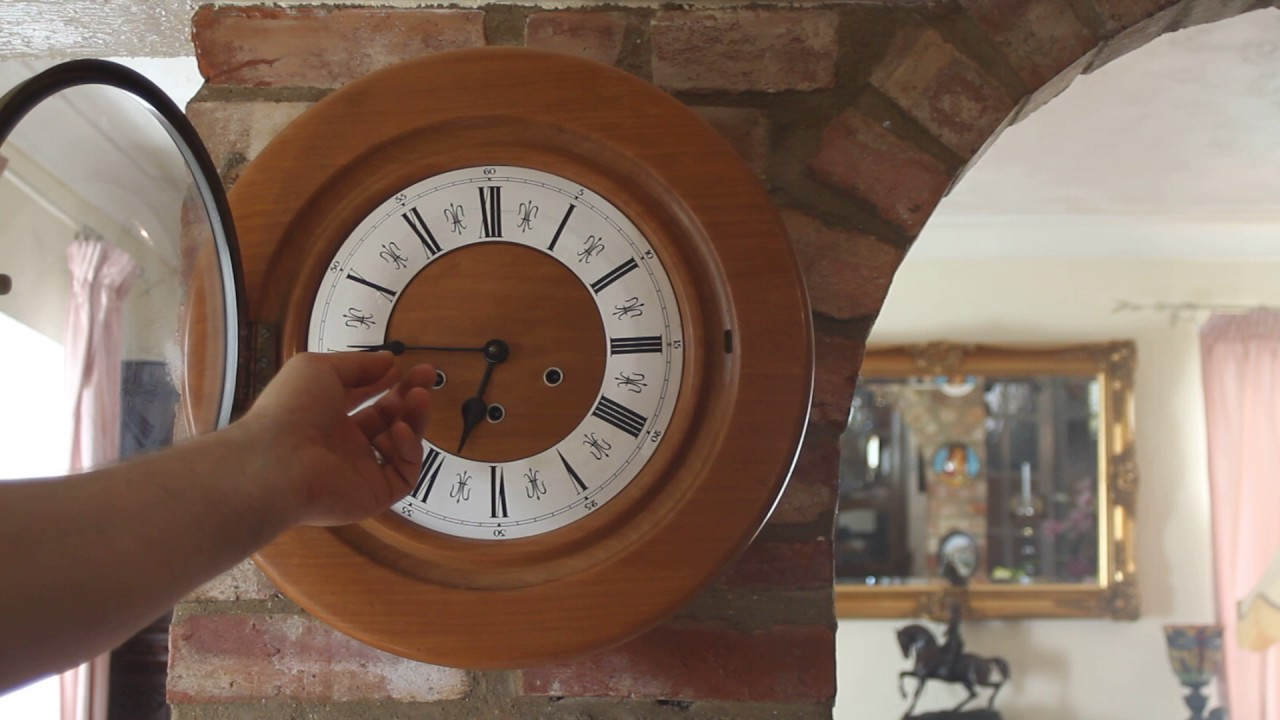 Vintage unusual smiths light oak 8 day wall clock with vintage unusual smiths light oak 8 day wall clock with westminster chimes amipublicfo Images