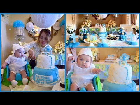 MY SON BAPTISM CELEBRATION ( DECORATION IDEAS, OUTFIT& MORE)