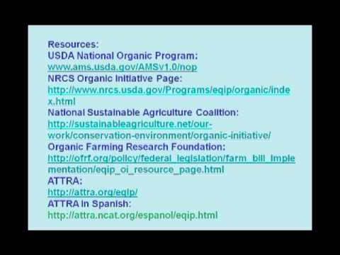 Getting EQIPed: USDA Conservation Programs For Organic And Transitioning Farmers