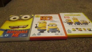 Despicable Me 1,2 And Minions (UK) DVD Unboxing