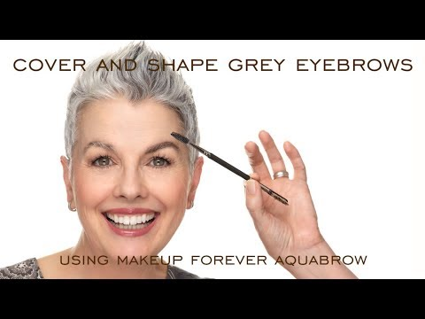 Cover And Shape Grey Eyebrows Using Makeup Forever