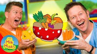Yes Yes Vegetables | Nursery Rhymes and Kids Songs | Healthy Eating |  The Mik Maks