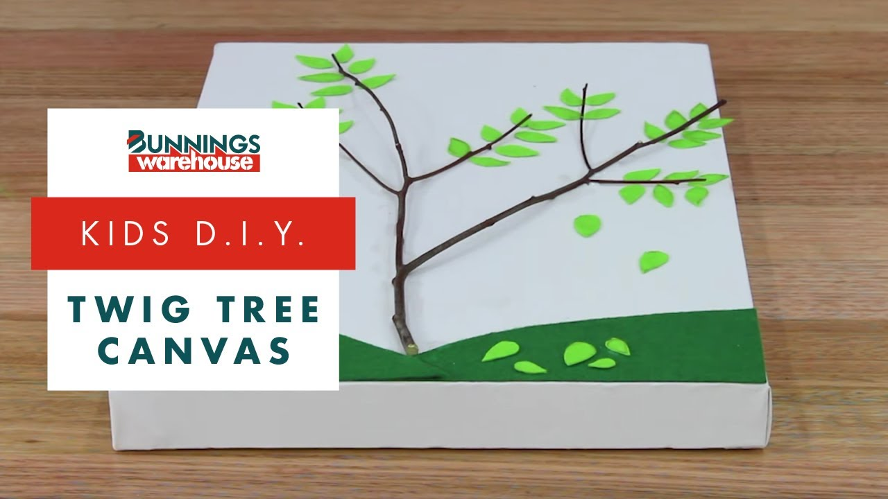 How To Make A Twig Tree Canvas Diy At Bunnings