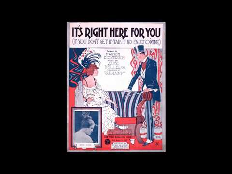 It's Right Here For You (1920)