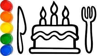 Birthday Cake Warna Warni Belajar Menggambar dan Mewarnai untuk Anak