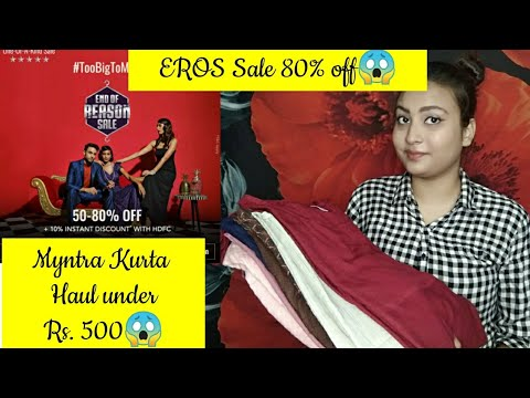 myntra-kurta-haul-under-rs-500😱-|-affordable-kurta-&-kurta-set-available-on-myntra-|-eros-sals-80%