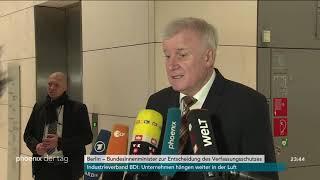 Horst Seehofer zur bundesweiten Prüfung der AfD durch den Verfassungsschutz am 15.01.19