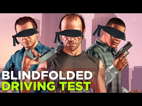GTA 5 while blindfolded is HARD (w/ Simone and Russ)