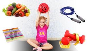 Вика хочет быть стройной, занимается спортом и ест здоровую пищу