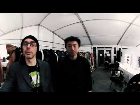 Famous China model exclusive interview backstage China Fashion week in VR360