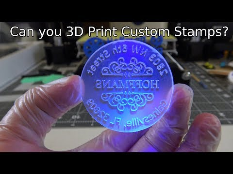 Can you 3D Print custom stamps? DIY Crafting