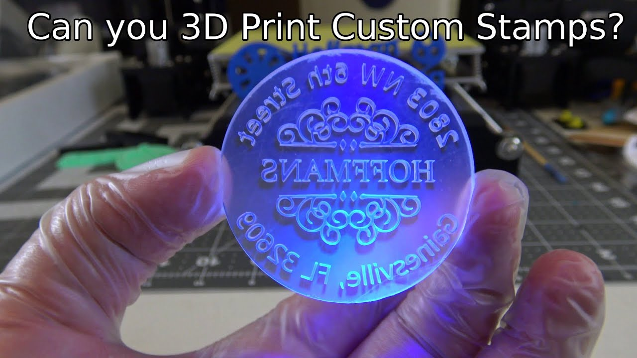 Can You 3D Print Custom Stamps DIY Crafting