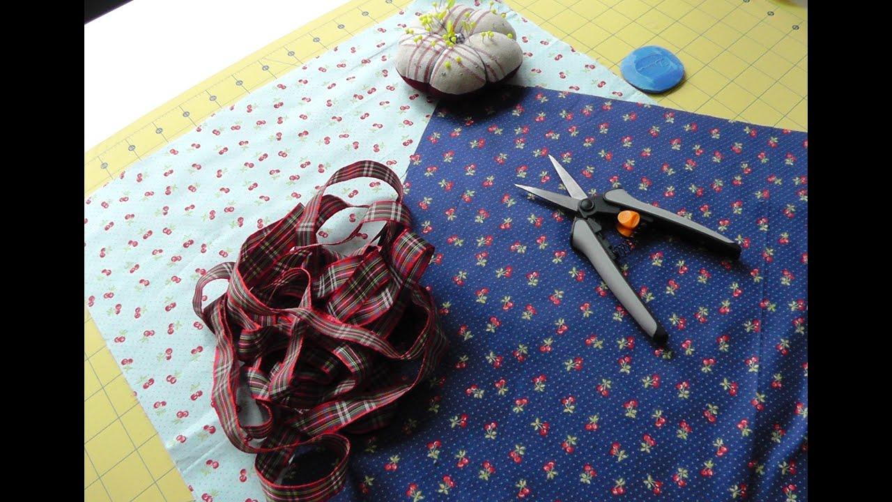 Tutorial como coser una bolsa multiusos youtube - Como coser cortinas paso a paso ...
