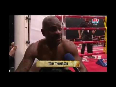 Tony Thompson hilarious interview. funniest thing in boxing