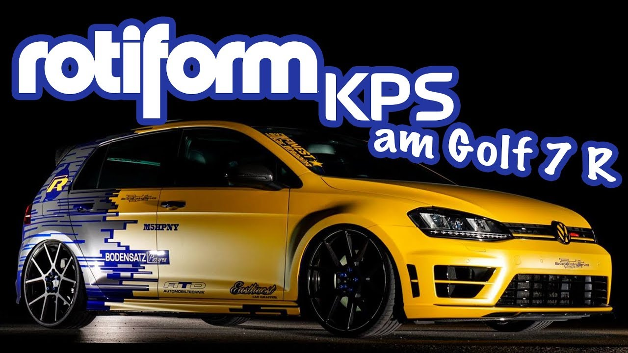 rotiform kps 20 zoll am vw golf 7 r gti clubsport. Black Bedroom Furniture Sets. Home Design Ideas