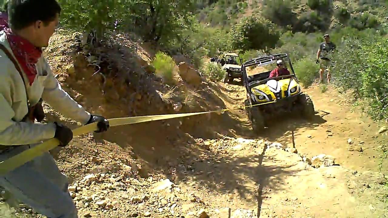Custom Yamaha Rhino Rock Crawling Climbing in Crown King  Arizona