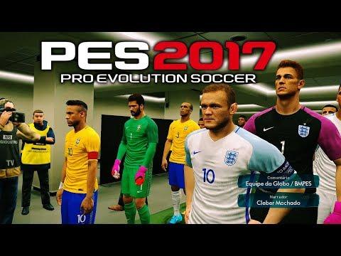 PES 2017 - Inglaterra VS. Brasil - Wembrey Stadium