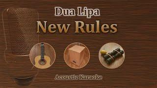New Rules - Dua Lipa (Acoustic Karaoke)