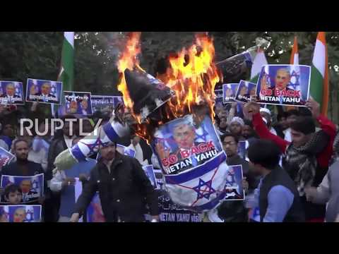 India: Israeli effigies burn across India ahead of Netanyahu visit