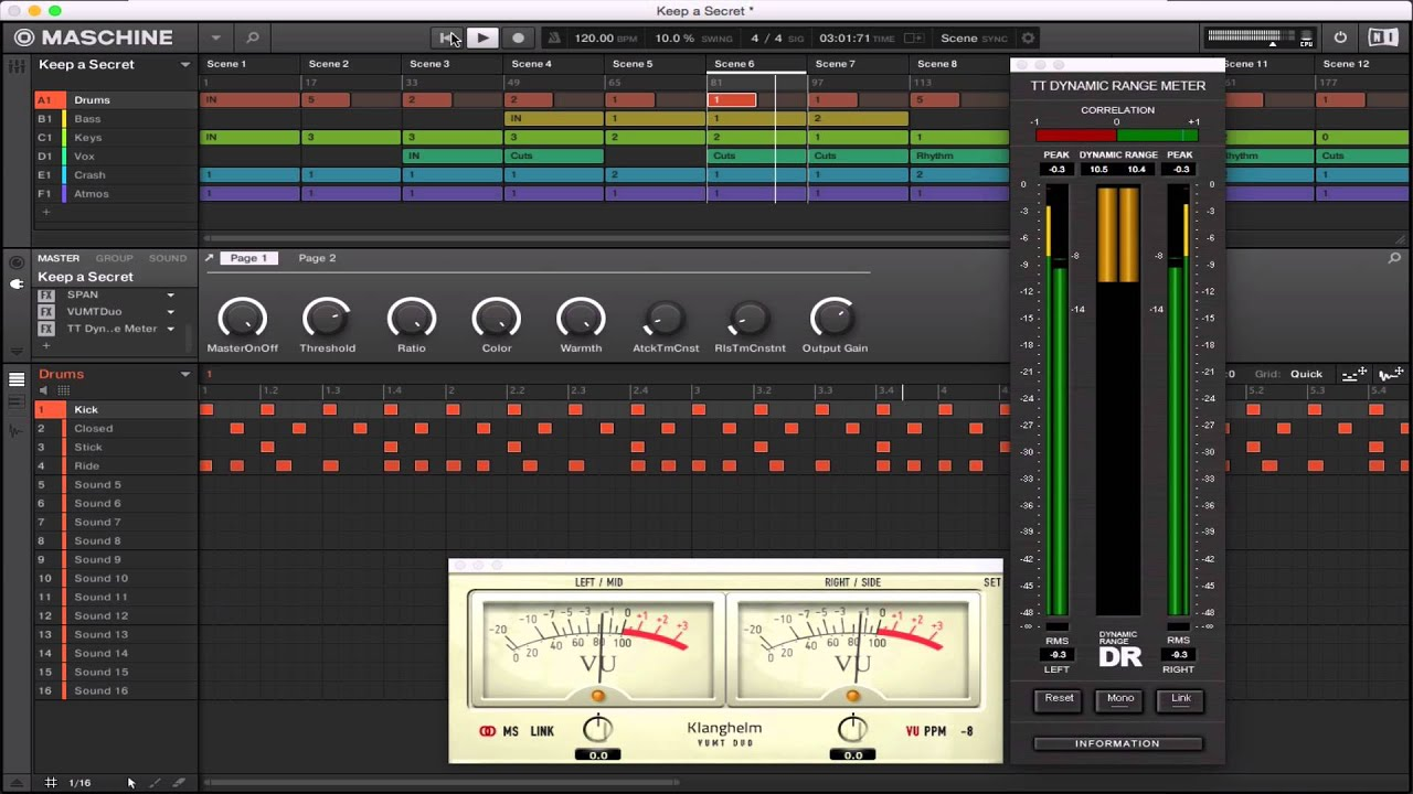 tt dynamic range meter 64 bit with soundradix 32 lives demo