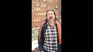 Sioux man tells stories and speaks in Lakota language