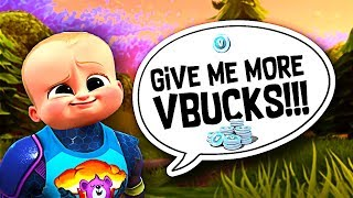 Little kid *CAUGHT* using me for VBUCKS!