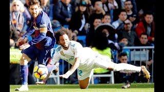 Гений футбола Лионель Месси отдал голевой пас без бутсы | Lionel Messi Brilliant assist vs Barca