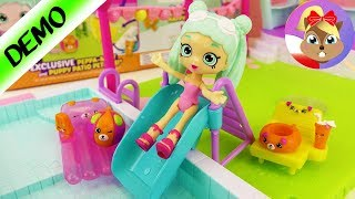 SHOPKINS POOL PARTY | Peppa-Mint i przyjaciele zjeżdzalnia do wody | Home Happy Places Pool