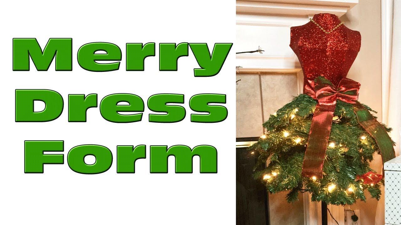 big lots christmas decor pre lit merry dress form - Christmas Trees At Big Lots