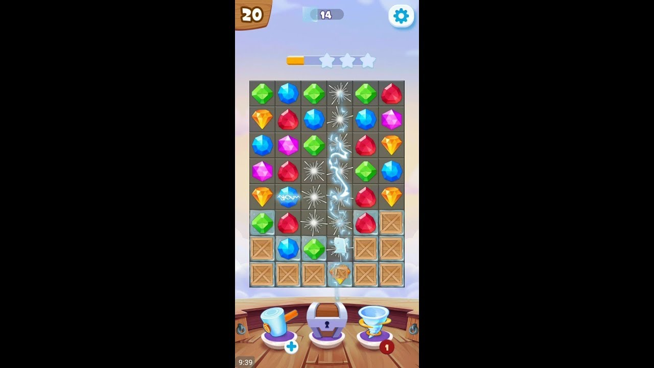Pirate Treasures New (by TAPCLAP) – match 3 puzzle game for Android – gameplay.