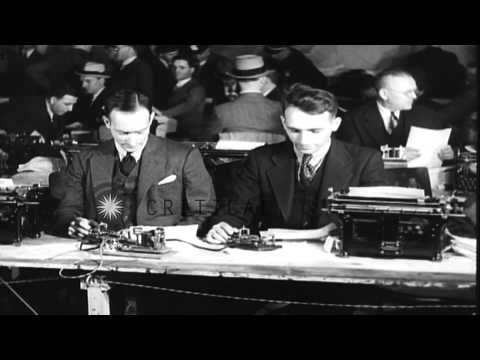 Prison warden grants a short reprieve before the Bruno Hauptmann's execution in T...HD Stock Footage