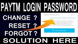 How to Reset Paytm Login Password?