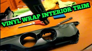 How to Vinyl Wŗap Interior Trim | Step by Step | EASY