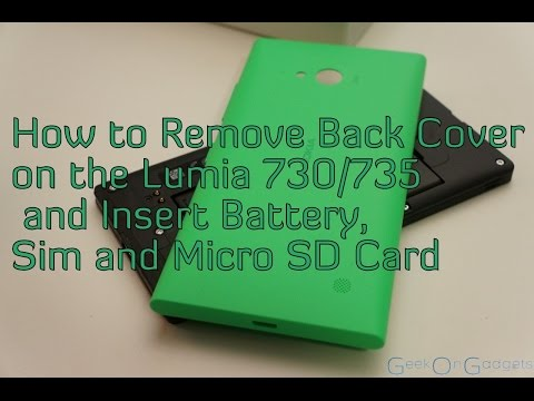 how to take out sim card from iphone 4 how to remove back cover on the lumia 730 735 and insert 1510