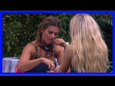 I'm a celebrity 2017: becky and toff dine on sheep anus and bull penis in 'worst dates' trial
