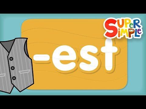 "Word Family ""est"" | Turn & Learn ABCs | Super Simple ABCs"