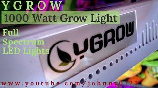 1000 Watt White LED Grow Lights YGROW, Full Spectrum Lights for plants, flowers
