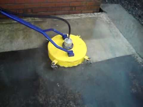 concrete cleaning with flat surface cleaner 18 whirl a