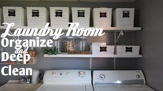 Laundry Room Organization & Deep Clean