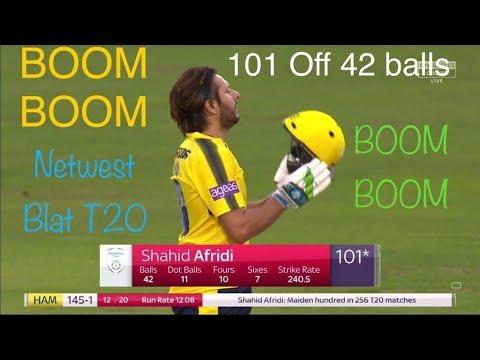 Shahid Afridi Scored 100 in 42 balls in CPL T20 2017 HD