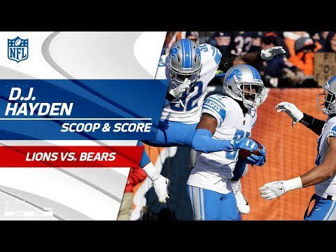 D.J. Hayden Scoops & Scores Off Mitchell Trubisky's Fumble! | Lions vs. Bears | NFL Wk 11 Highlights