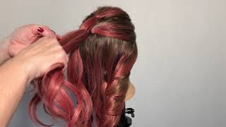 How to do a Bushel Braid hairstyle by Lori Fudens at Sharmaines salon of Clearwater Beach