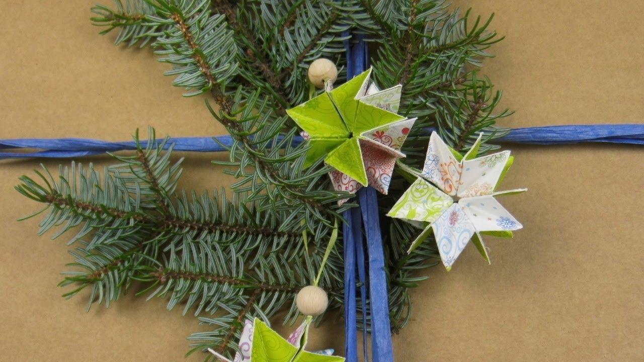 Sterne basteln christbaumschmuck geschenkanh nger f r - Christbaumschmuck selber machen ...