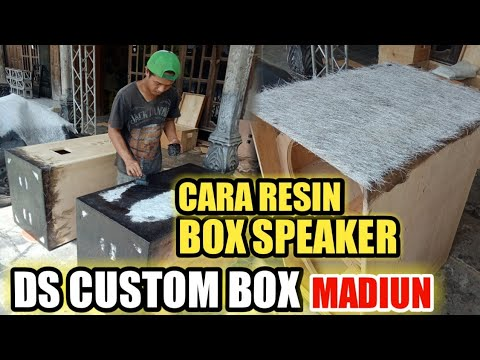 CARA RESIN BOX SPEAKER || DS CUSTOM BOX MADIUN ||
