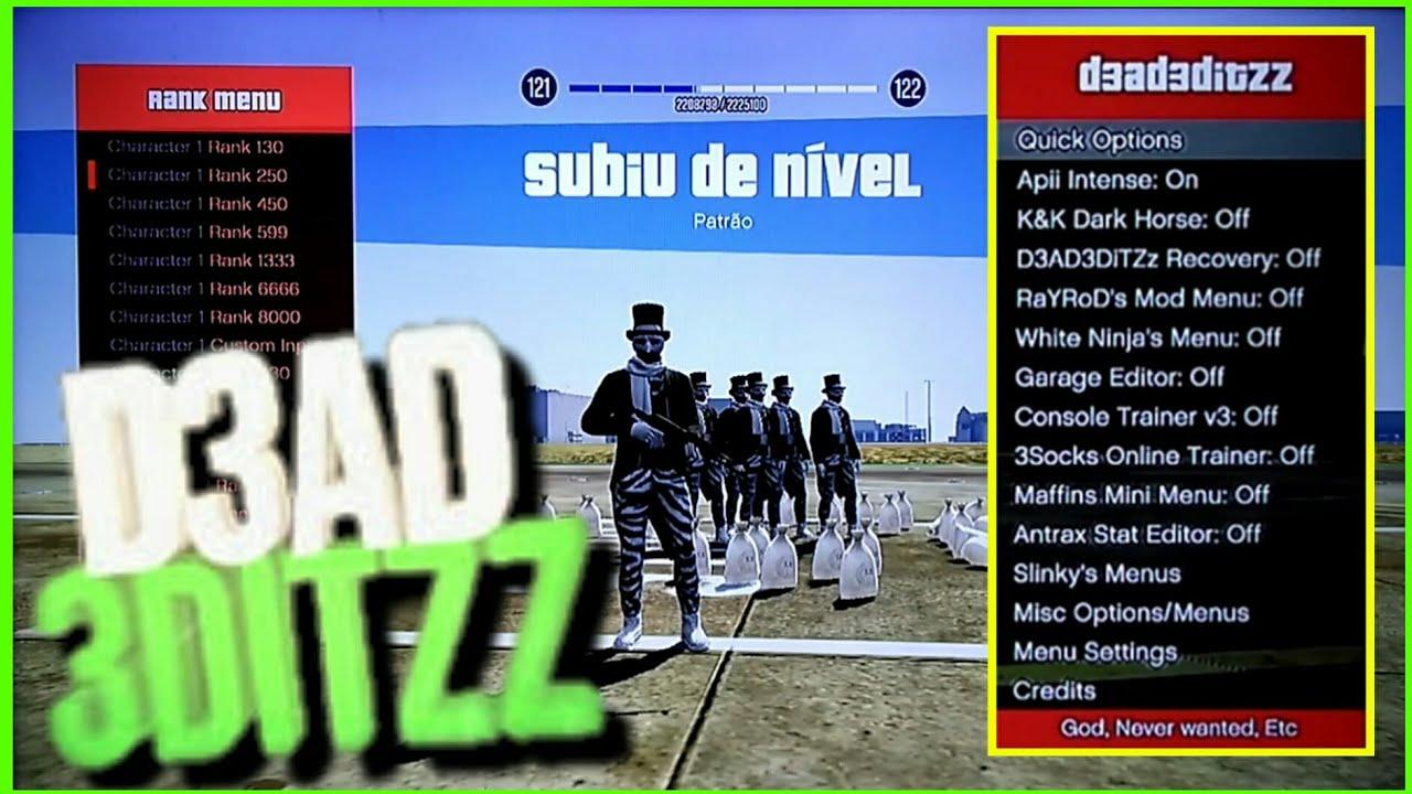 GTA V - NOVO MOD MENU D3AD3DITZZ 1 27 1 28 ONLINE {{TRAVADO & DESTRAVADO}}
