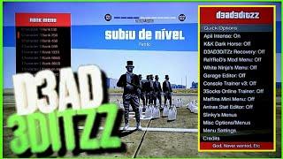 GTA V - NOVO MOD MENU D3AD3DITZZ 1.27 1.28 ONLINE {{TRAVADO & DESTRAVADO}}