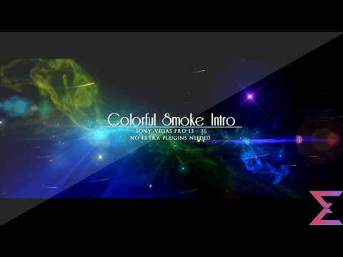 Free Sony Vegas Intro Template #35 : Colourful Smoke Intro Template For Sony Vegas 13